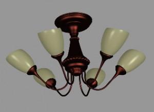 Визуализация модели люстры