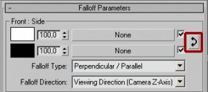 Свиток с параметрами карты Falloff