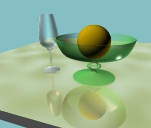 Для получения эффекта отражения использоване карта Flat Mirror