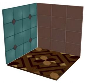 Изменен оттенок материала на левой стенке