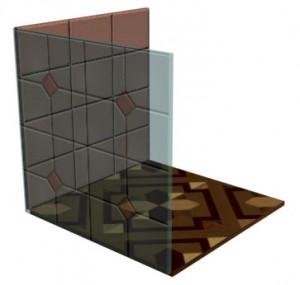 Для передней стенки значение параметра Opasity = 50